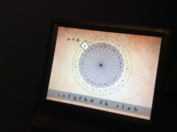 an interactive display used to illustrated codes and code breaking