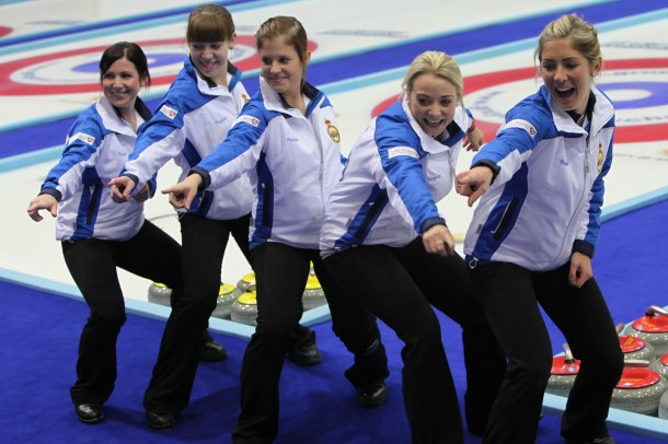Scotland's Women's curling team.