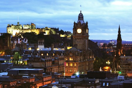 Photo of Edinburgh looking over the city from Calton Hill