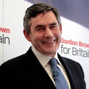 A happy Gordon Brown