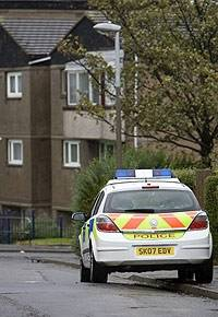 Police Outside Saughton Mains House