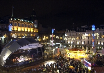 George Square and the Winterfest events