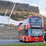 City Sightseeing Tour bus at Dynamic Earth near Parkgate Residence