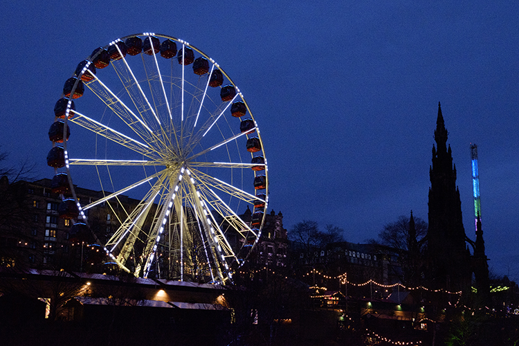 Edinburgh Christmas lights Princes Street