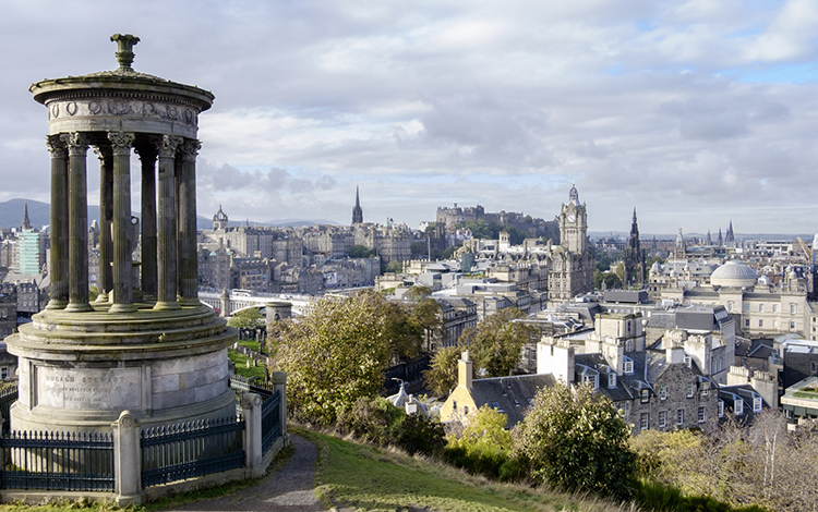 View from Calton Hill -  near luxury self catering Edinburgh boutique holiday apartments