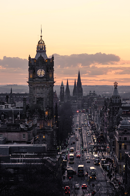Princes St from Calton Hill