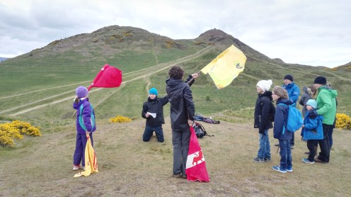 Fusion of WW1 and Iron Age - sending semaphor signals between Hillforts- April 2017