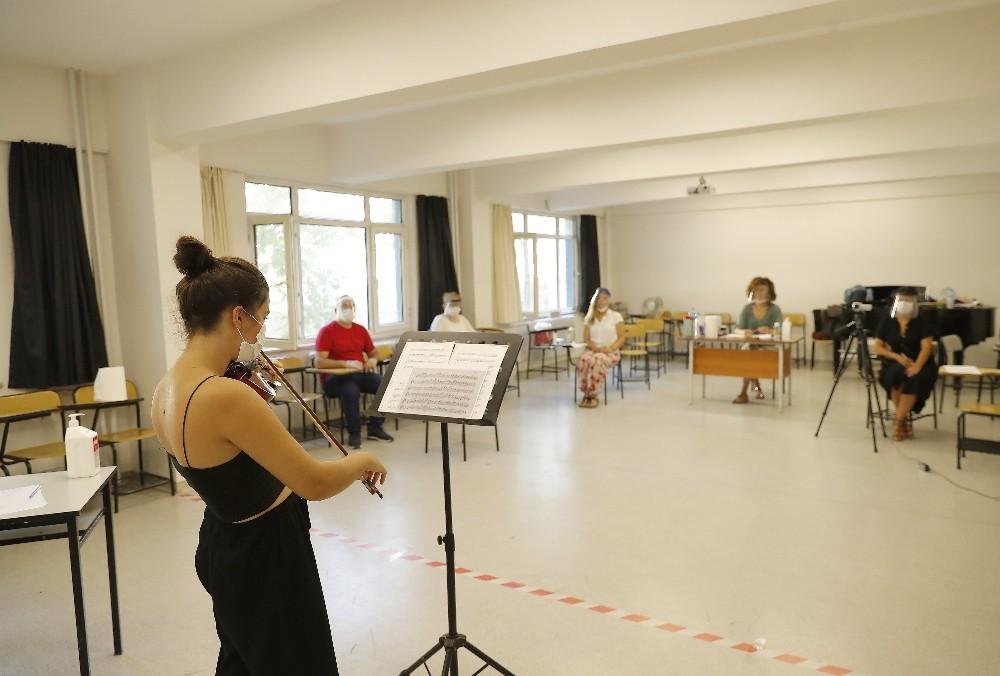 Müzik öğretmenliği bölümünde özel yetenek sınavı yapıldı