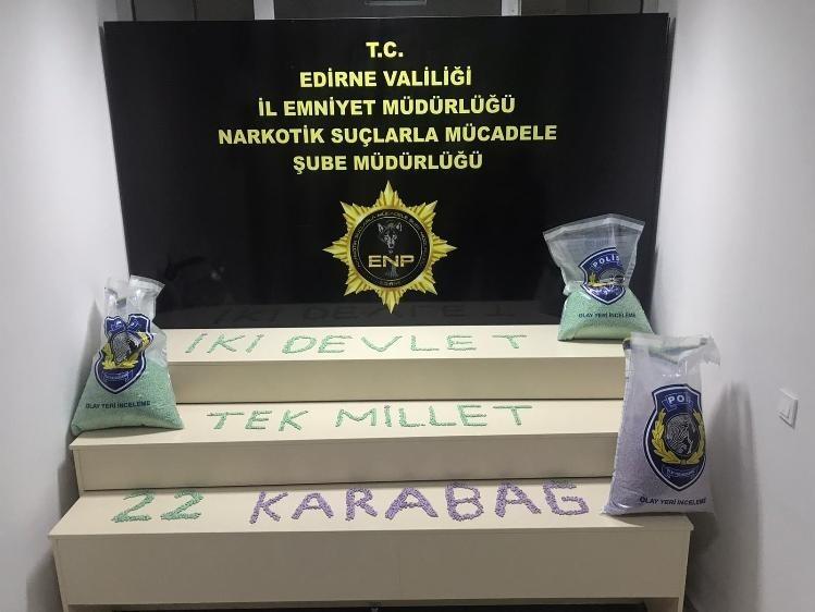 Edirne'de uyuşturucu operasyonunda 3 tutuklama