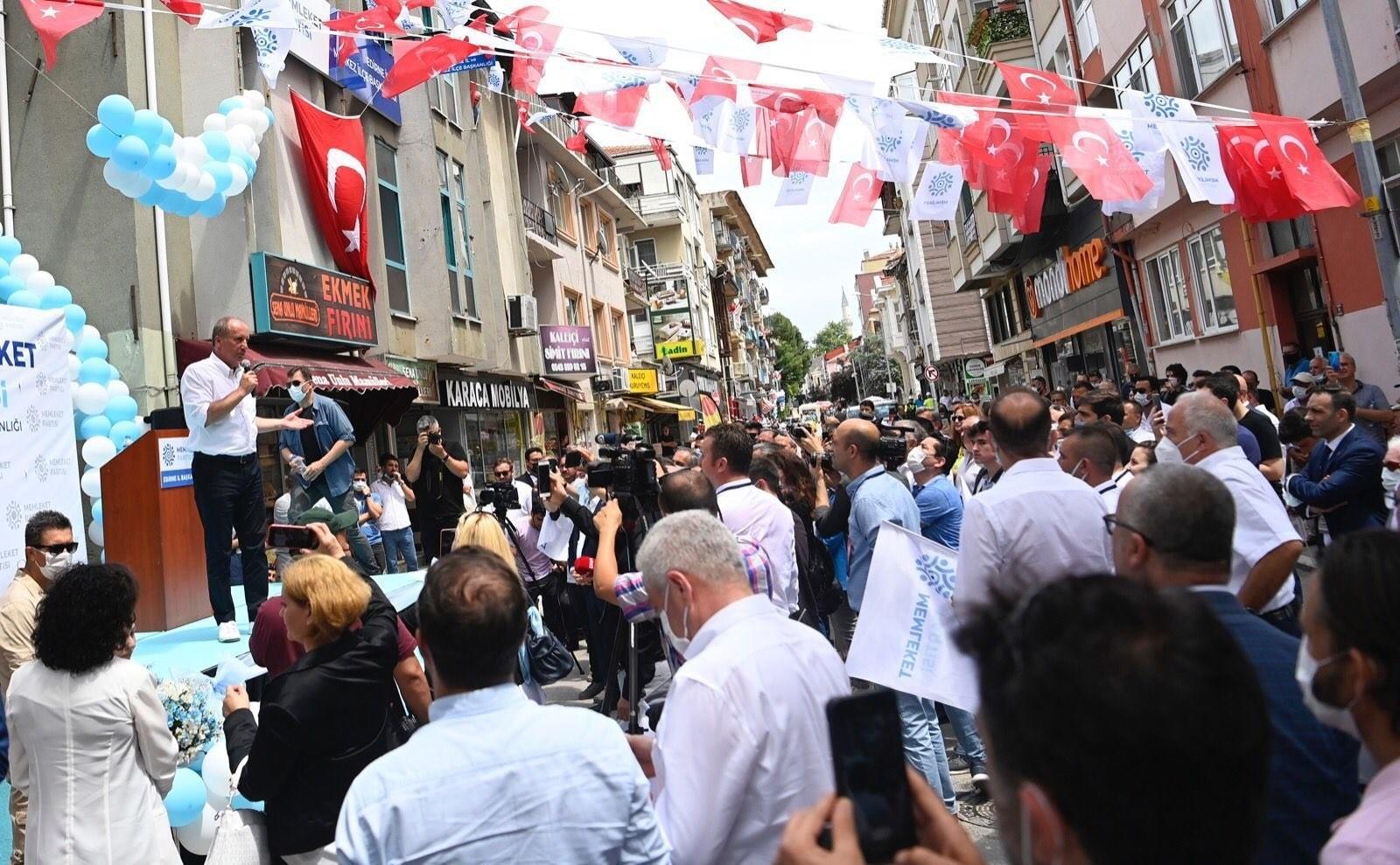 """Memleket Partisi Genel Başkanı İnce: """"Kılıçdaroğlu, gel milletin önünde tartışalım"""""""