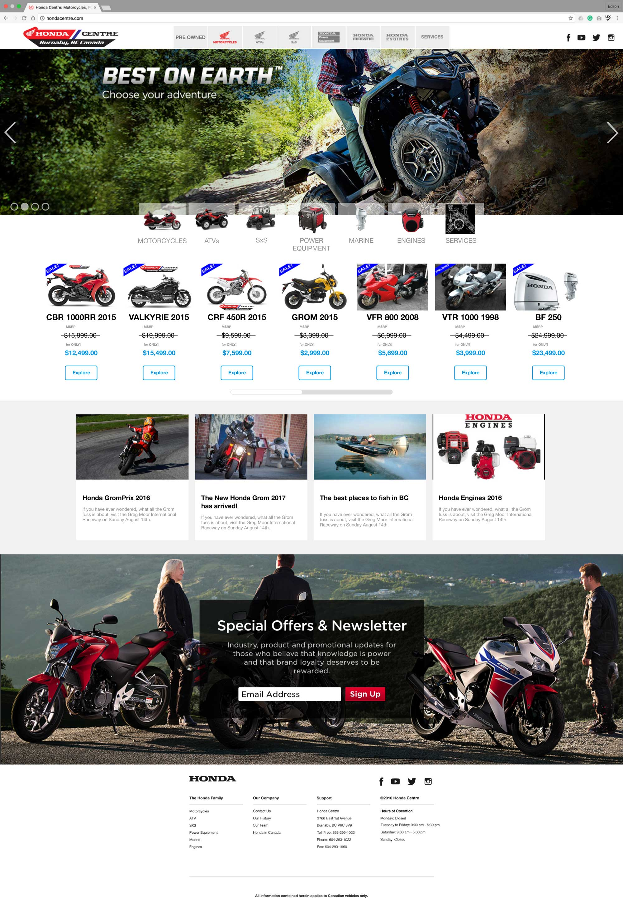 Honda-Centre_website
