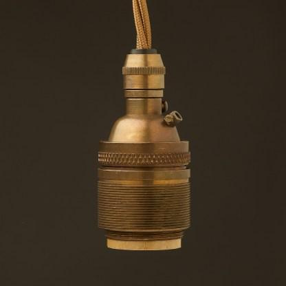 Antique Brass E26 120V Cordgrip Pendant Barrel