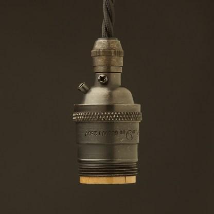Bronze E26 120V Cordgrip Pendant socket UNO thread