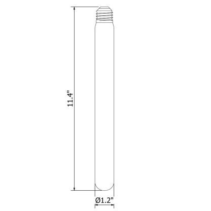 Vintage Edison long tube spiral filament bulb 290mm E26