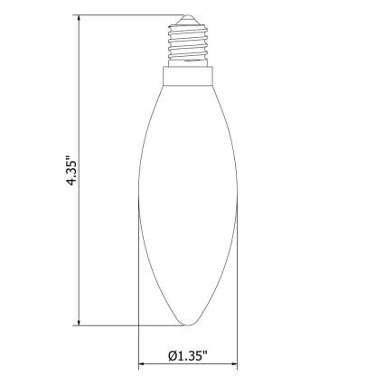 3 Watt Dimmable Filament LED Candle bulb