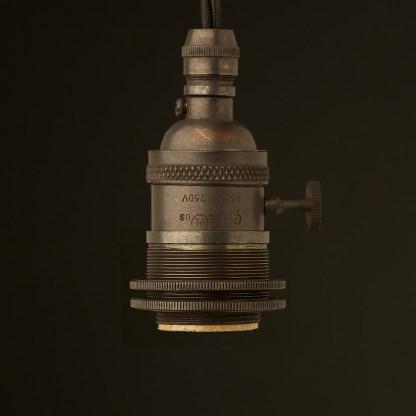 Bronze E26 Edison Screw 3 way switched lampholder