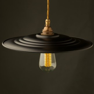 RAF Barracks Shade Brass E26 Pendant