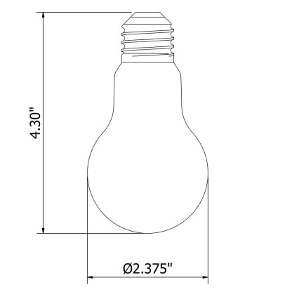 5 Watt Dimmable Lantern Filament LED E26 Clear GLS