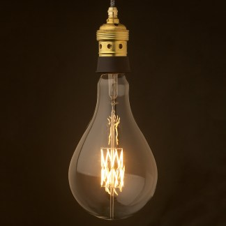 Edison style light bulb and E39 Brass and ceramic pendant