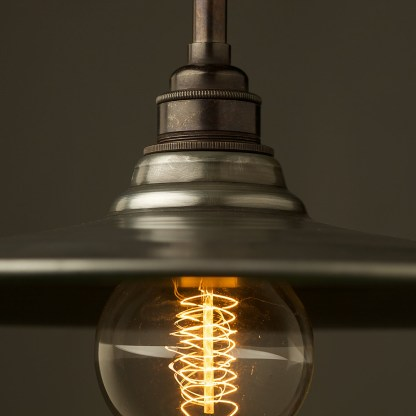 Antiqued Steel Non Gallery Type Flat Light Shade