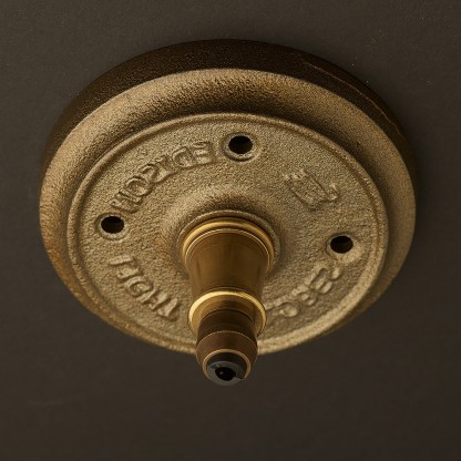 Antique brass cord grip ceiling plate