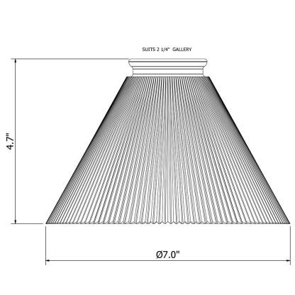 Holophane Cone Glass Light Shade