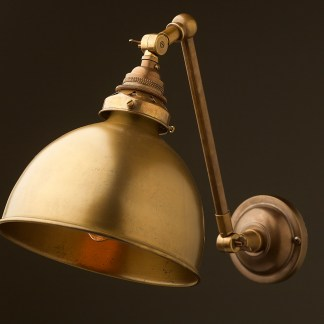 Antique brass Adjustable arm wall sconce shade