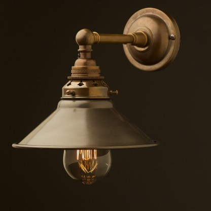 Antique Brass Straight arm wall sconce shade
