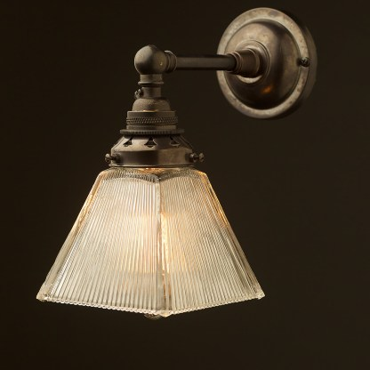 Bronze Straight arm wall sconce shade