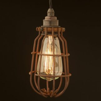 Enclosed Light Bulb Antiqued Cage Fitting