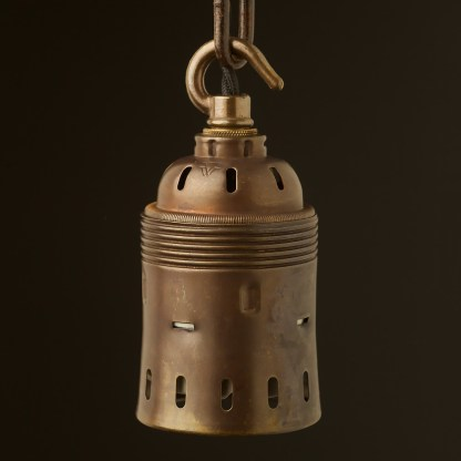 Hook top GES Antique brass socket