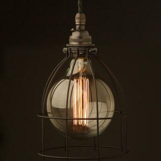 Black G125 Bulb Cage Pendant