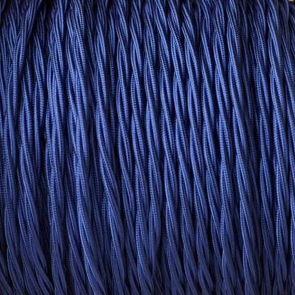 Fabric Covered Braided 3 Core Lighting Flex Blue