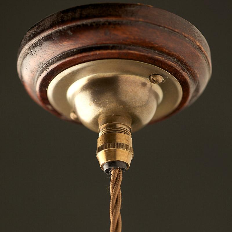 vintage style b22 antique brass pendant