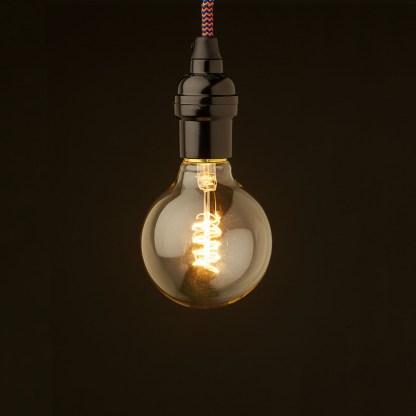 Edison style light bulb Vintage Bakelite fitting G80 spiral
