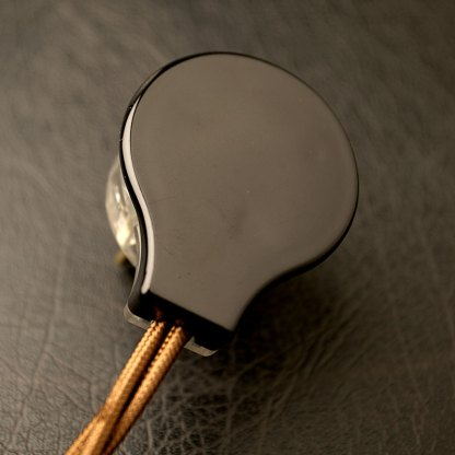 Black 3 Pin Side Entry 240V Plug Top