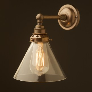 Brass Straight Arm Wall Mount Shade