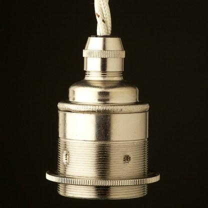 Nickel Pendant Lampholder Edison E27 fitting