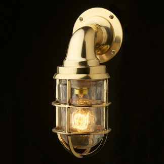 Vintage Ship Brass Bulkhead Wall Light