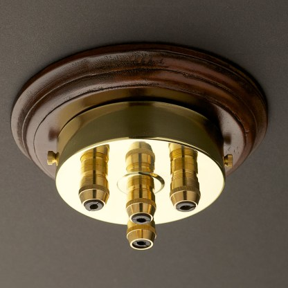 New Brass Multiple drop Cord grip ceiling plate