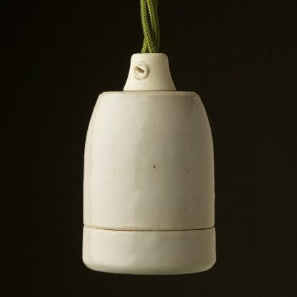 White Plain Porcelain E27 pendant lampholder