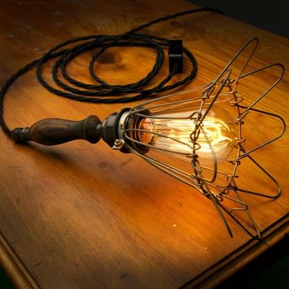 Bronze Wooden Handle Trouble Light