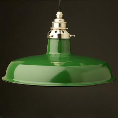 Green Enamel Factory Pendant E27 Lampholder