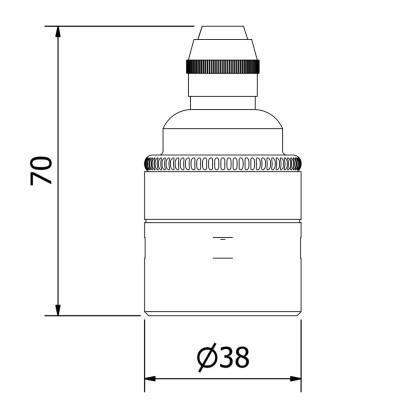 Brass Pendant Lampholder Edison E27 smooth fitting