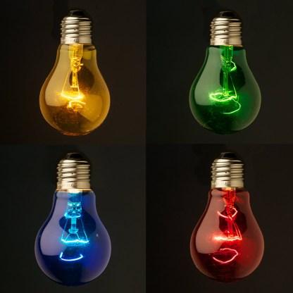 Transparent Round Colored Festoon Bulb E27