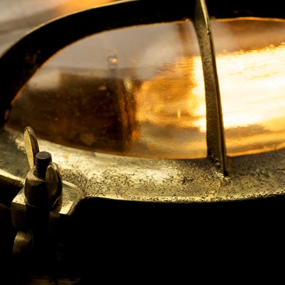 Brass Ships Round Cast Cage Bulkhead Light