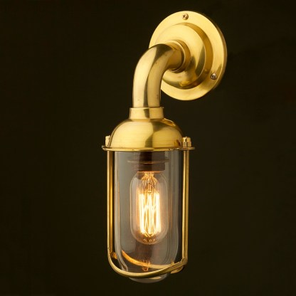 Vintage Ships glass fish mouth wall light