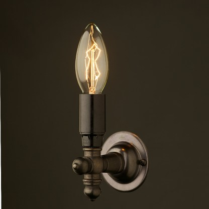Vintage Bronze Wall Candle Light