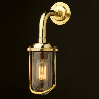 Vintage Ships glass fish mouth long wall light