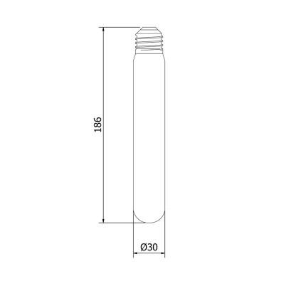 2 Watt Dimmable Filament LED E27 Clear Medium Tube